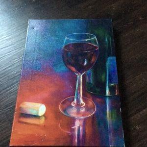 Pretty wine glass canvas